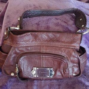 B Makowsky Brown Leather Shoulder Bag A93804